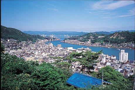 千光寺公園からの尾道水道の眺め