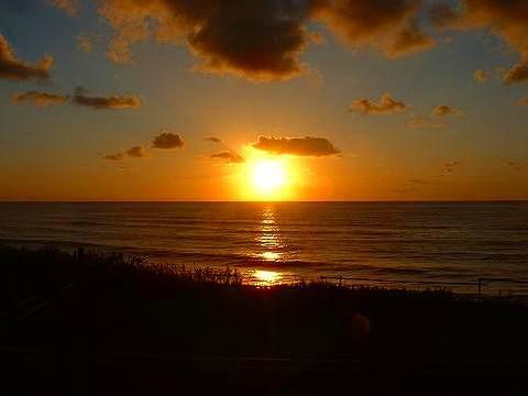 瀬波海岸夕日