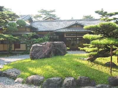 A tea arbor and Japanese garden