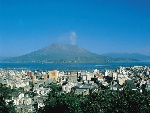 城山展望所から望む鹿児島市街地