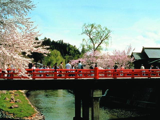 高山陣屋前の中橋