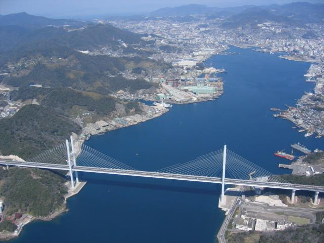 megami bridge & nagasaki city
