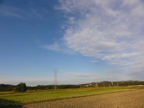 田園風景の中の鉄塔