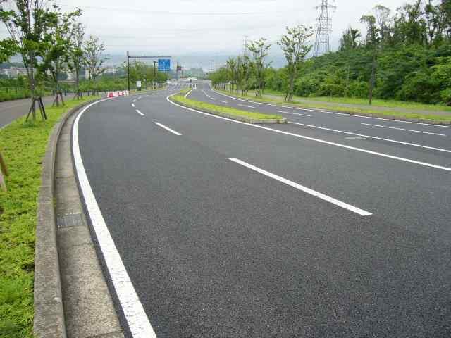 Roads around Oita Bank dome