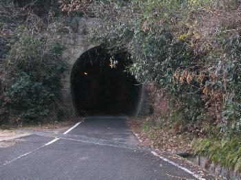 ガソリンカーのトンネル