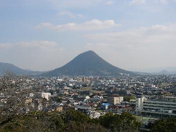 丸亀城からの眺望(南方面)