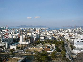 丸亀城からの眺望(北方面)