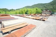 広葉樹専門の木材市場